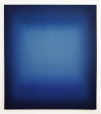 dark and bright blues, 180 x 160 cm, Öl auf Leinwand, V-2019