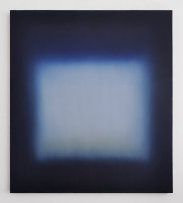 dark blue and white, 100 x 90 cm, Öl auf Leinwand, II-2021