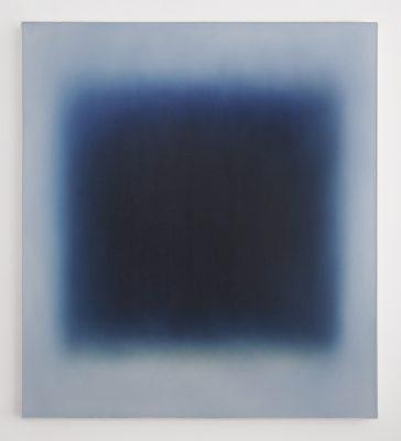 middle dark blue / Floating, 100 x 90 cm, Öl auf Leinwand, II-2021