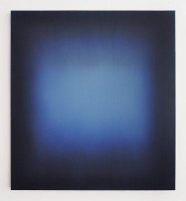 middle bright blue / Floating, 100 x 90 cm, Öl auf Leinwand, VI-2021