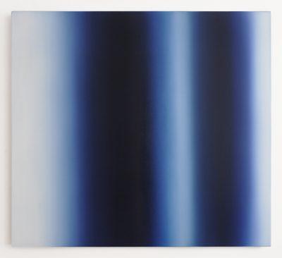 untitled / Liminal, blue and white, 100 x 110 cm, Öl auf Leinwand, IV-2021